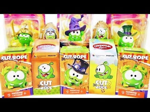 АМ НЯМ Cut the Rope Mix! СЮРПРИЗЫ с игрушками игра и мультик Om Nom Kinder Surprise eggs unboxing