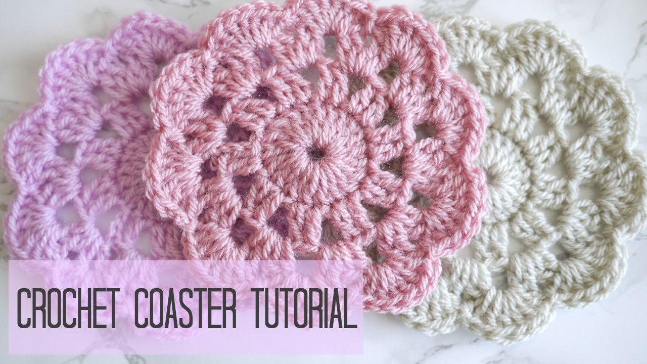 Crochet How To Crochet A Coaster Bella Coco Youtube