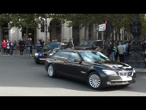 US Secretary of State motorcade in London