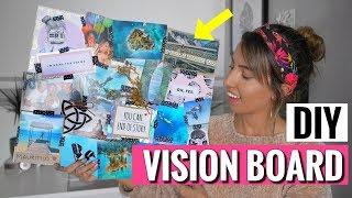 DIY Vision Board | Mit dieser Motivation erreichst du alle Ziele | #Girlboss mit Sofia
