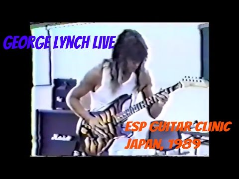 George Lynch | ESP Guitar Clinic | Live in Japan 1989 |  (Fu