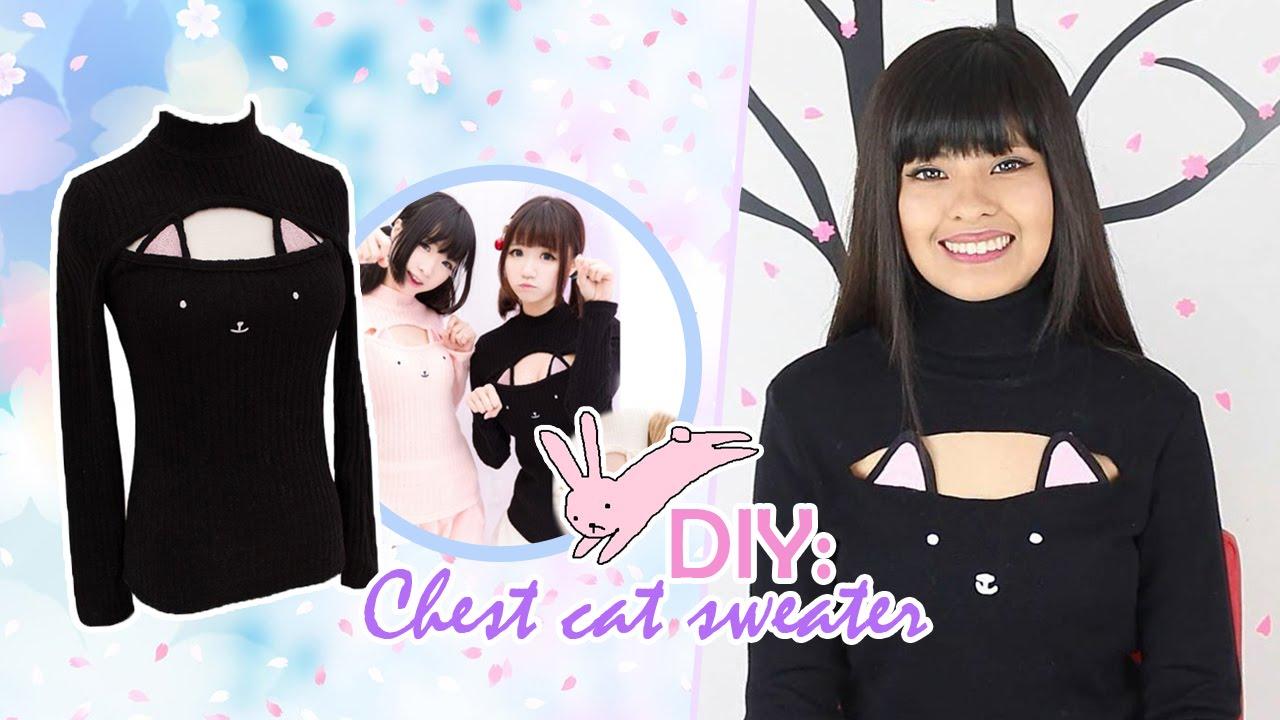 Diy Ropa Kawaii Sueter De Gato Chest Cat Sweater Akari Beauty Youtube
