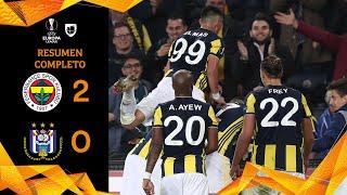 Fernebahce 2-0 Anderlecht - GOLES Y RESUMEN - Grupo D - UEFA Europa League