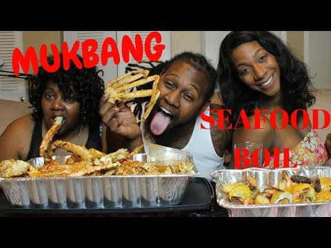 Seafood Boil Mukbang|King Crab|And Bae| Mother in Law Comes to town