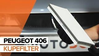 Så byter du Kupefilter på PEUGEOT 406 GUIDE   AUTODOC