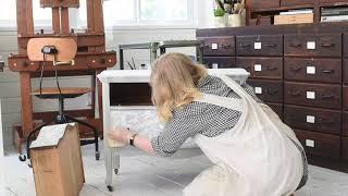 Mora Handpainted Dresser Part 2