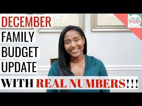 December Family Budget Update with REAL NUMBERS!!!!