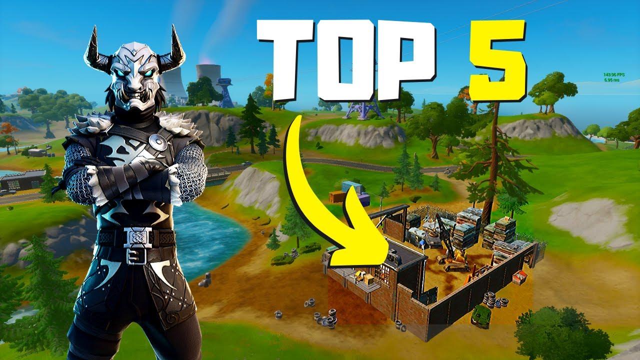 5 Nuevos Lugares Para Caer En Arena Fortnite Capitulo 2 Youtube