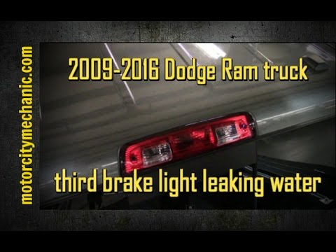 2012 Ram Third Brake Lamp Removal Reseal And Reinstall Youtube