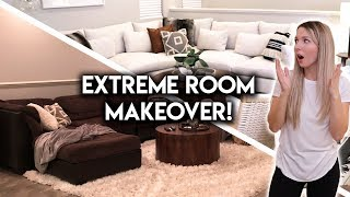 EXTREME ROOM MAKEOVER   LIVING + DINING TRANSFORMATION