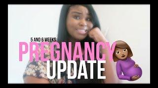 SNEEZE PEE 😩 | 5 & 6 WEEKS PREGNANCY UPDATE