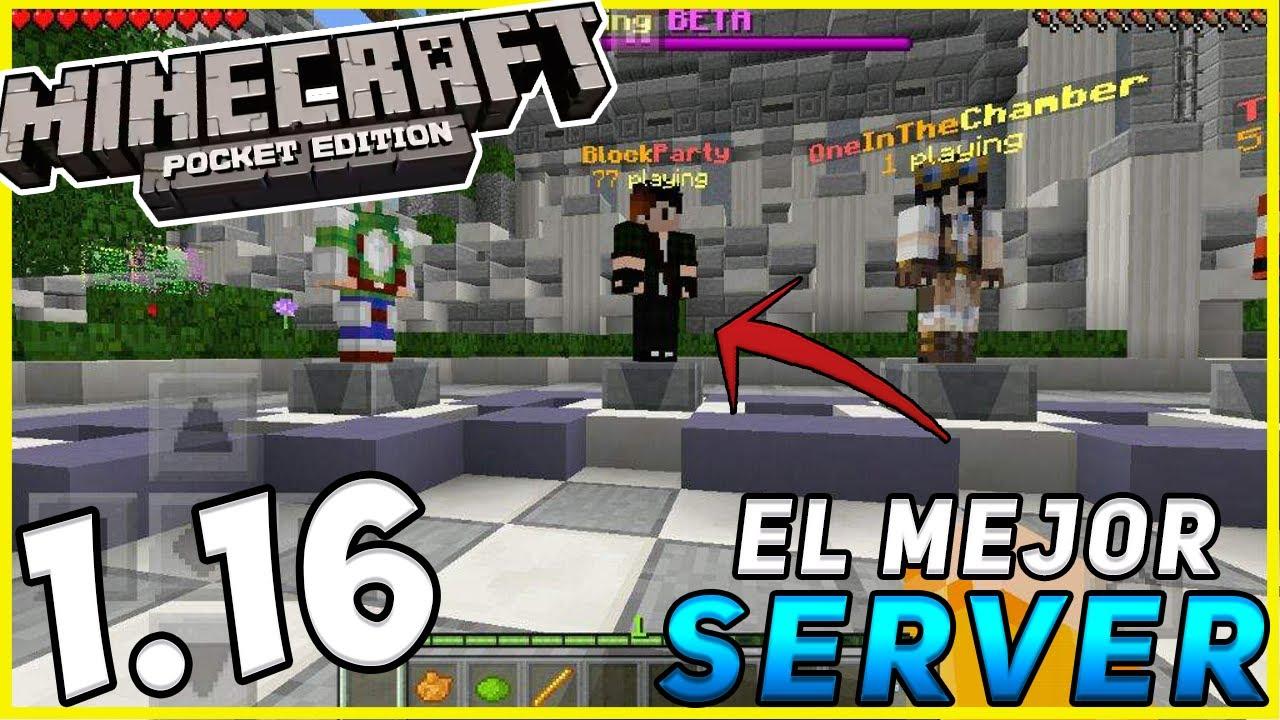 SERVER PARA Minecraft PE 1.16!! EL MEJOR DE TODOS - SIN LAG!