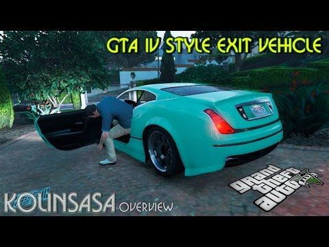 The style of GTA 4 getting out of the vehicle