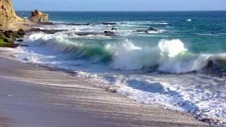 Звуки волн, шум прибоя на море. Звуки природы.