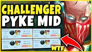 THIS PYKE MID BUILD HAS A 92% WIN-RATE IN CHALLENGER?!? BEST S9 MID CHAMPION!  - League of Legends