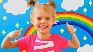 Rainbow colors with Vitalina | Educational video for kids