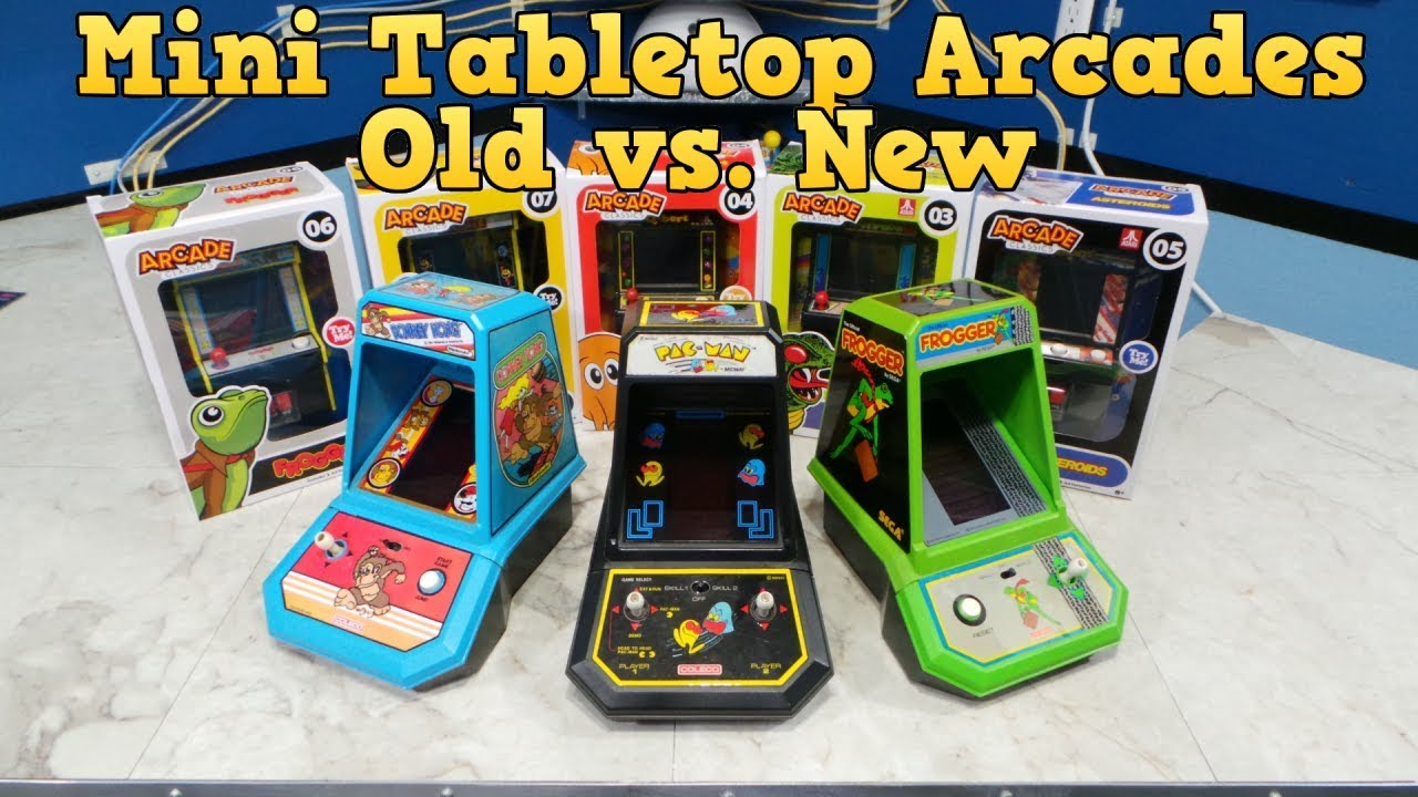 Classic Table Arcade Games Mini Tabletop Arcades Old Vs New