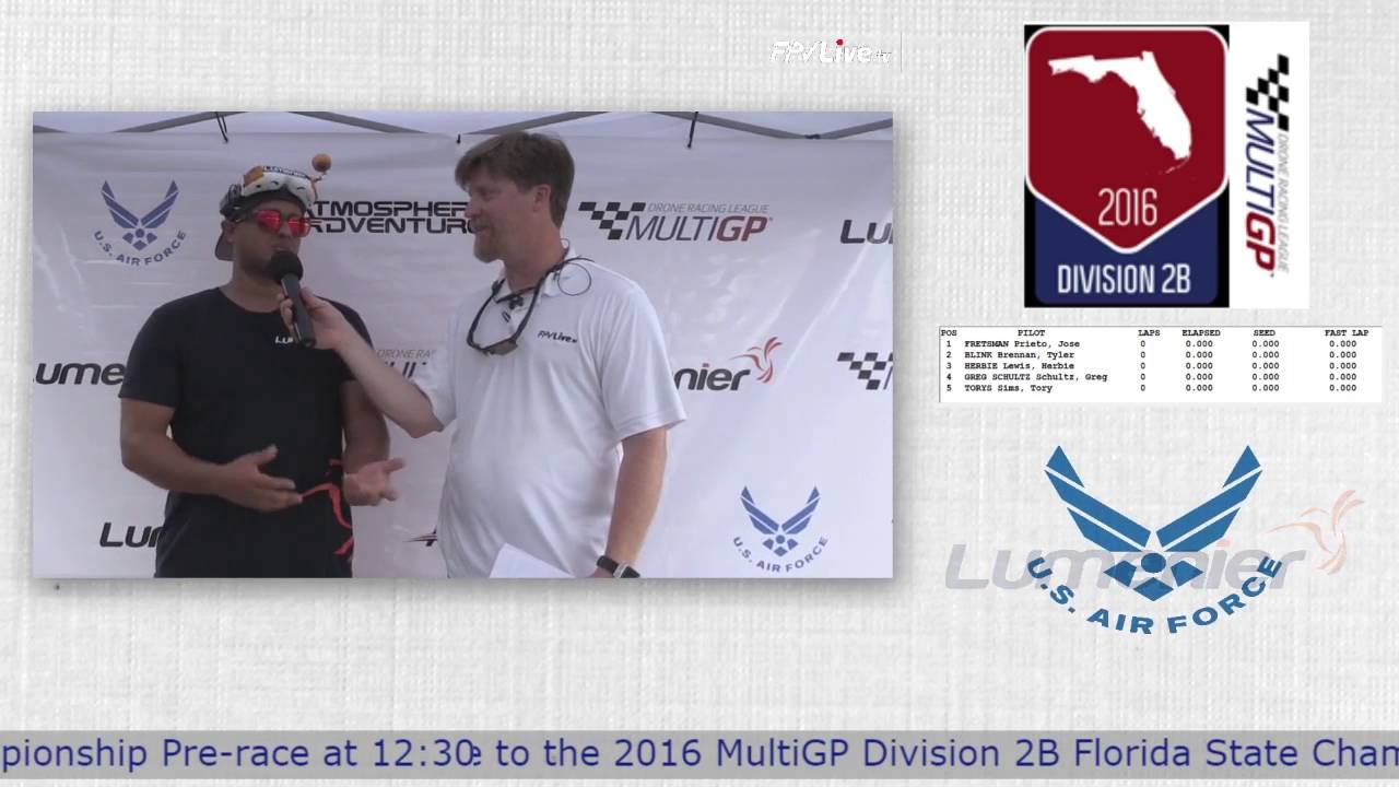 "2016 MultiGP 2B Finals - Mark ""Kablah"" Chirino Interview"