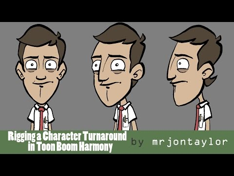 Rigging a Character Turnaround in Toon Boom Harmony (character by Jazza)