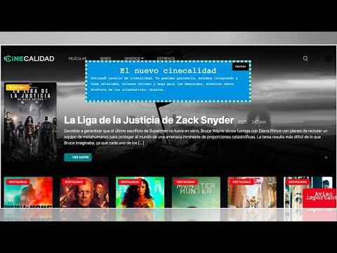 CineCalidad VOLVIÓ; administradores crean una página mejorada