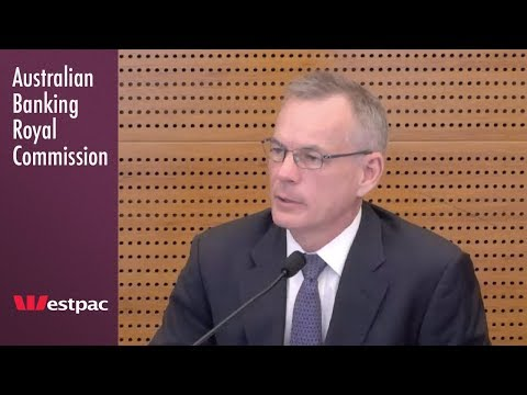 Westpac's general manager of specialist finance testifies at the Banking Royal Commission