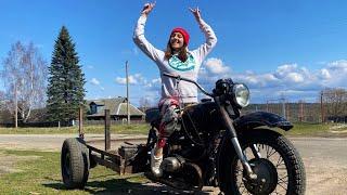 Самодельный трицикл из Урала. Тест-драйв