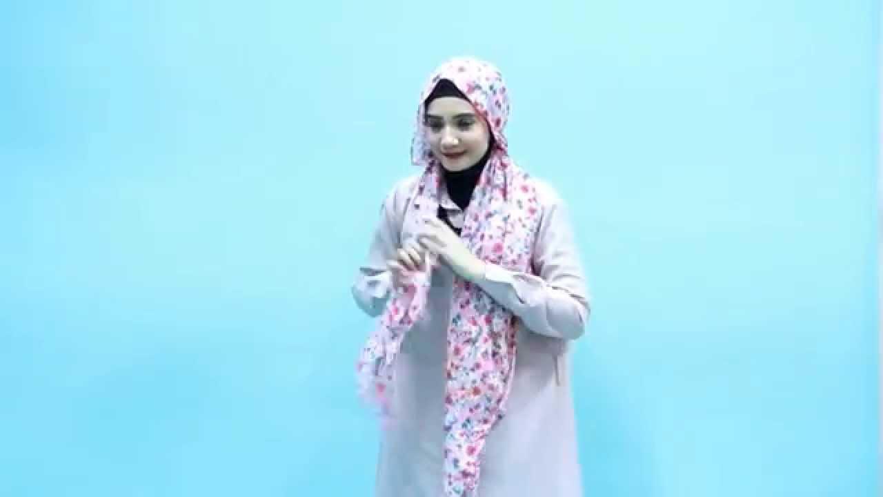 Tutorial Hijab Zaskia Sungkar Feminim Floral Sehari Hari YouTube