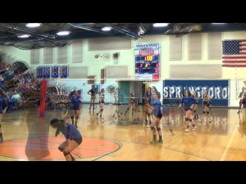 8th Grade Springboro Volleyball vs Centerville 092514