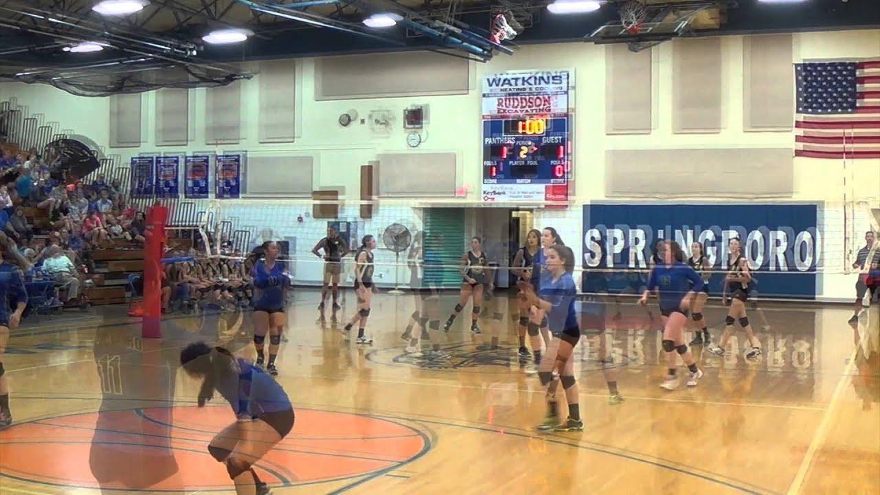 8th Grade Springboro Volleyball Vs Centerville 092514