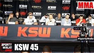 KSW 45: Cała konferencja prasowa