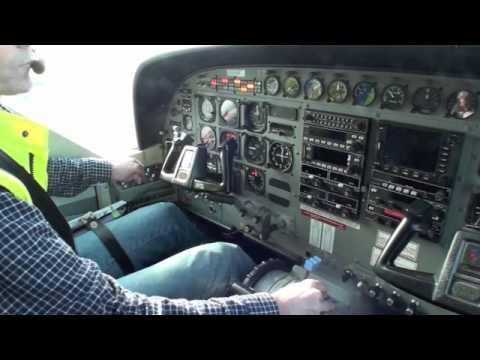 Start engine and take off Cessna grand caravan