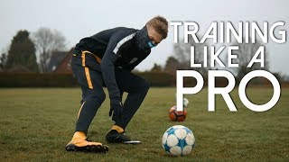 TRAINING LIKE A PROFESSIONAL FOOTBALL PLAYER FOR 24 HOURS