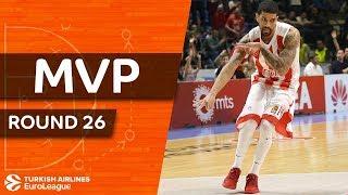 Turkish Airlines EuroLeague Regular Season Round 26 MVP: James Feldeine, Crvena Zvezda mts Belgrade