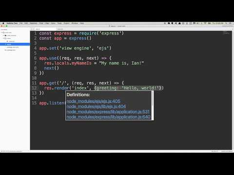 Understanding Local Variables in Express JS - YouTube
