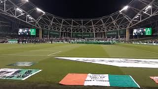 Republic of Ireland v Northern Ireland National Anthems 15-11-2018