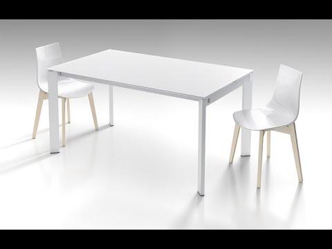 Mesa cocina extensible Poker blanca cancio precio y ceramica - YouTube