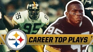 Greg Lloyd Terrorized Offenses in NFL | Pittsburgh Steelers Top Plays