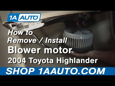 How to Install Replace Blower Motor 2004 Toyota Highlander