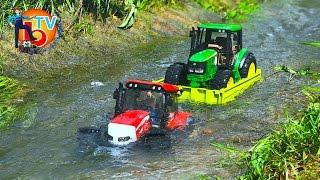 BRUDER TRAKTOR McCORMICK John Deere he fell into a river. #mud