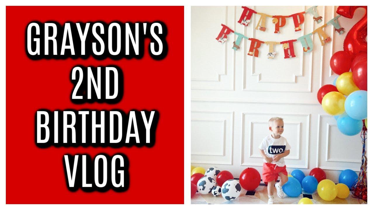 GRAYSON'S 2ND BIRTHDAY VLOG   Tara Hendereson