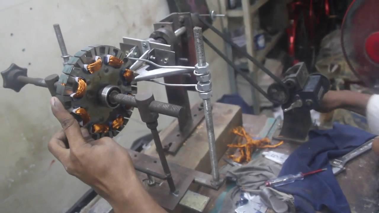 Manual Ceiling Fan Winding Machine Youtube Aro Wiring Diagram