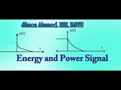 Energy and Power of Signals in Bangla by Shaon Ahamed, EEE, HSTU