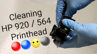 How to clean flush HP 920 Printhead 6500, 6500a, 6100, 7500a printers and Photosmart 564