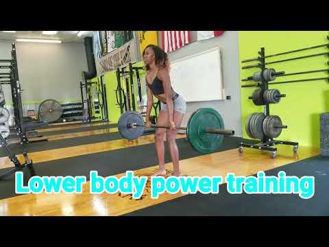 Ashley Spencer lower body power training 2017