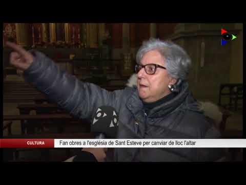 Els Amics de Sant Esteve promouen el canvi de lloc l'altar de l'església