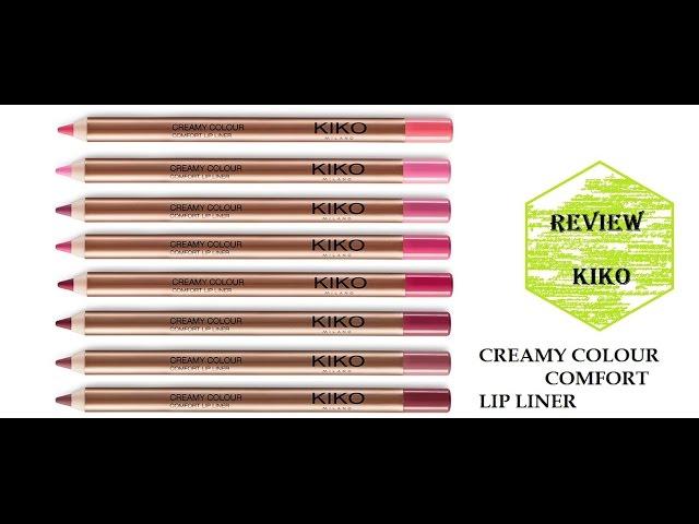 KIKO - CREAMY COLOUR COMFORT LIP LINER | REVIEW con SWATCHES