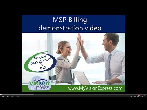My Vision Express®: How to Perform MSP Billing