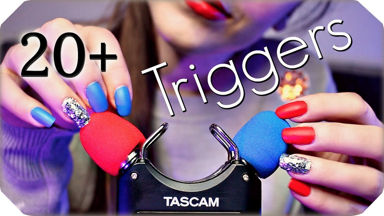 Asmr No Talking asmr 20+ tascam triggers for sleep & tingles (no talking) deep relaxing ear  to ear sounds 💙 3 hours