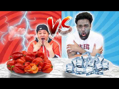 HOT VS COLD FOOD CHALLENGE | THE JD HOUSE