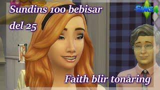 Sims 4: 100 Bebisar-utmaningen | Del 25 - Faith Blir Tonåring